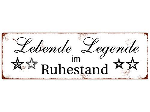 Interluxe METALLSCHILD Blech Türschild LEBENDE Legende lustig Spruch Held Shabby Türschild