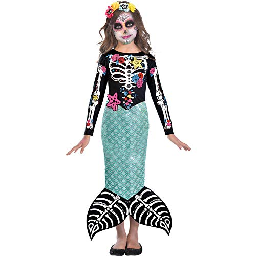amscan Child Day of the Dead Mermaid Costume