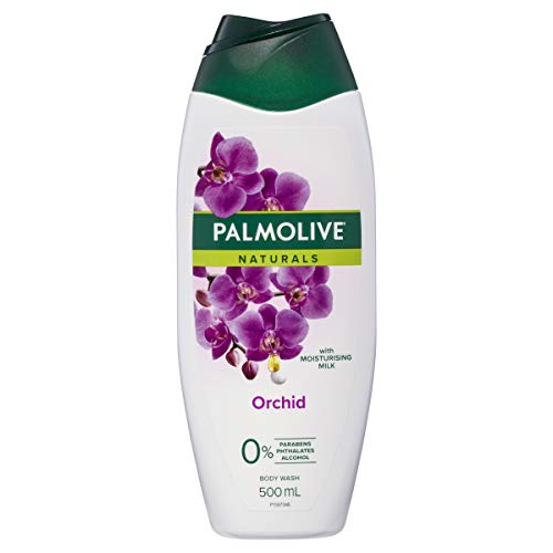 Palmolive Naturals Milk and Orchid Body Wash With Moisturising Milk Zero Percent Parabens Recyclable, 500ml