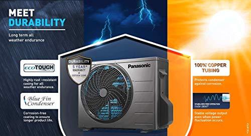 Panasonic 1.5 Ton 4 Star Wi-Fi Twin-Cool Inverter Split Air Conditioner (Copper, Shield Blu Anti-Corrosion Technology, nanoe-G Air Purification, 2021 Model, CS/CU-WU18XKYXF, White)