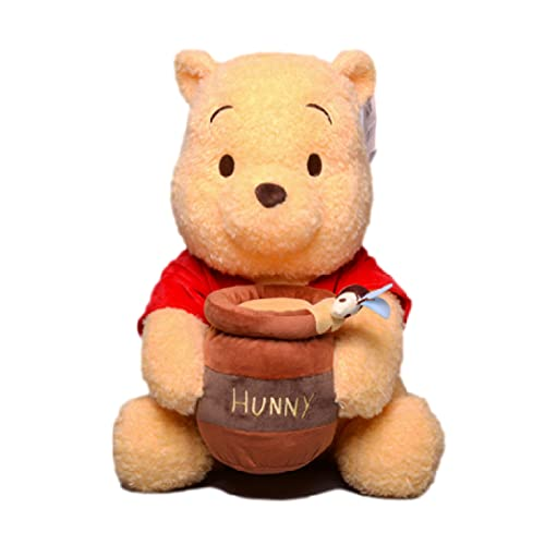 qiegui Lindo Juguete De Peluche De Gran Tamaño Pooh Bear Winnie Hold The Honeypot Suave Almohada De Peluche De 40 Cm, Kawaii Winnie The Pooh Muñecos De Peluche Regalos para Niños Niños