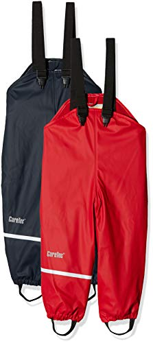 CareTec Kinder wasserdichte Regenlatzhose mit Fleecefutter im 2er Pack, Blau (Navy 7790), Herstellergröße: 86