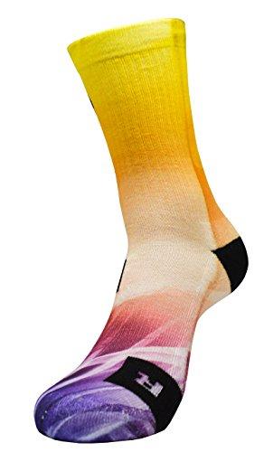 STYLE FOREVER® Inspire Series Glass Dome Light Game Custom Sport Socks - Glaskuppel Licht Spiel Socken - Benutzerdefinierte Sportsocken (43/46)