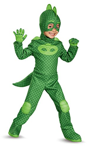 Gekko Deluxe Toddler PJ Masks Costume, Medium/3T-4T