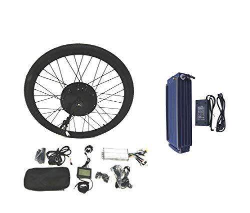 theebikemotor 48V1500W Hub Motor 20AH Samsung 22P Cell Li-on Ebike Batería Bicicleta ELÉCTRICA Kit DE CONVERSIÓN 4.0 Fat Rim + LCD + Tire (20