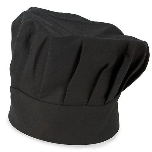 My Custom Style Chef Hat Adjustable Black Cotton 27,x20 Without Printing