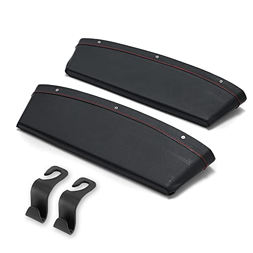 2 CAR SEAT Gap FILLERS & 2 CAR SEAT Holders; Car Seat Gap Filler - Universal Fit Storage Pockets & Side Blocker for Space Between Seats - Interior Storage Organizer for Driver & Passenger Seats