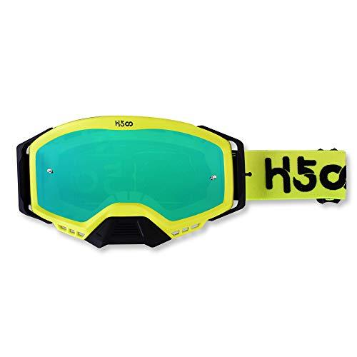 Gafas de motocross Antivaho Antipolvo Gafas transparentes para motocicleta MTB Sendero de...
