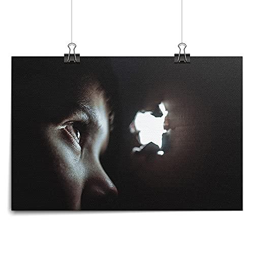 widnah Imagen de paisaje de animales con ojos de gato, arte de pared, decoración del hogar, sala de estar, dormitorio, oficina (sin marco, 40 x 60 cm)