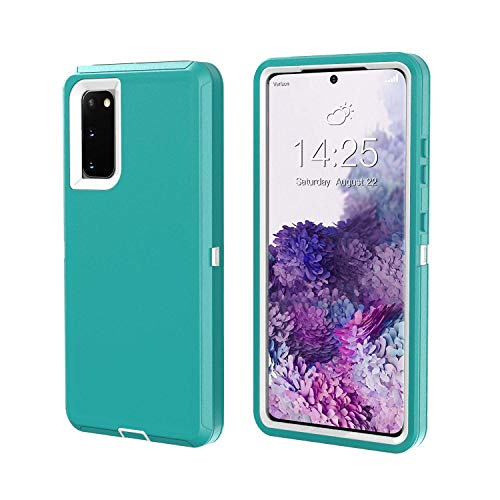 Galaxy S20 FE Case Samsung S20 FE Heavy Duty Rugged 6.5 inch Shockproof 3-Layer Cover for Samsung Galaxy S20 FE (Teal/White)