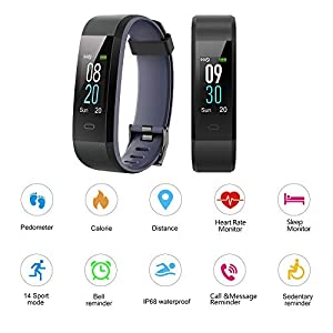 Willful Fitness Tracker with Heart Rate Monitor IP68 Waterproof, Activity Tracker (14 Modes) Pedometer with Step Counter Sleep Monitor,Color Screen ,Fitness Watch for Women Men (Pink) (Gray)