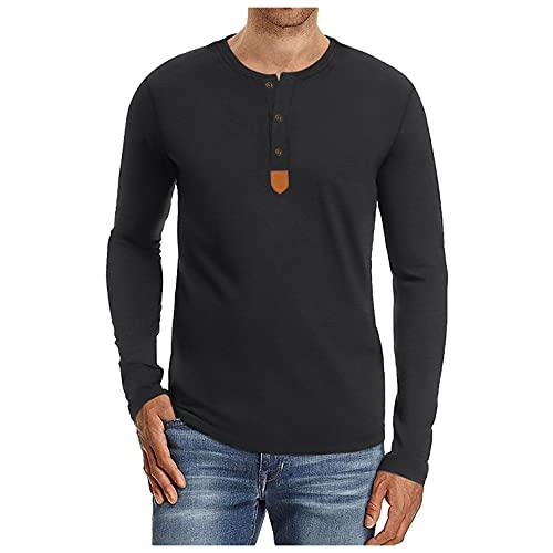 Berimaterry Camisetas Manga Larga Hombre de Liso Slim fit Casual t Shirt Ropa Hombre de otoño de Ocio Camisetas Basicas Hombre cómodos Camiseta Hombre Baratos Sudaderas Hombres sin Capucha de Juvenil
