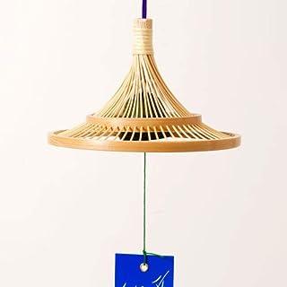 駿河竹千筋細工軒風鈴富士静岡県伝統工芸品伝統工芸士・黒田英一 作Suruga-takesensuji-zaiku, Wind chimes made of bamboo sticks