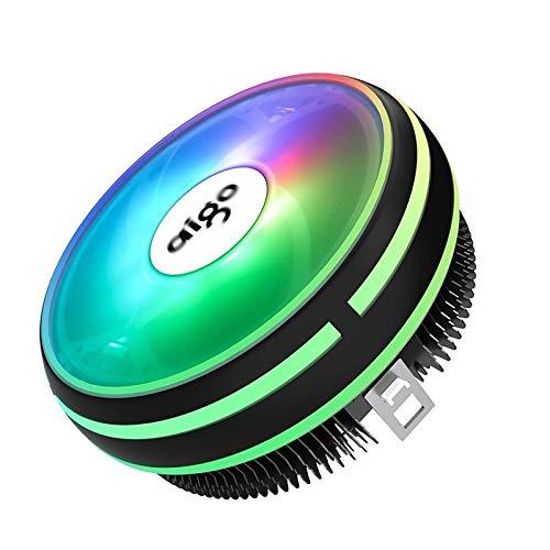 CPU Cooler Radiator 120mm PWM 12V SYNC RGB LED Fan CPU Air Cooling Computer Cooler LGA/1151/1155/AM3/AM4 4Pin CPU Cooler (Blade Color : Aigo Lair Cooler)
