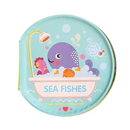 Gather together Marine Animal Baby Toys Water Bath Books Swimming Bathroom Toy Kids Early Learning Animal,Food Waterproof Books Educational Toys for Babies