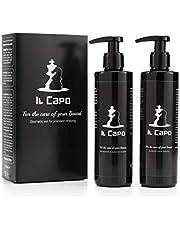 """Set per rasatura barba uomo-Gel Trasparente da rasatura e Dopobarba Made in Italy de """"Il Capo""""-flaconi da 250ml"""
