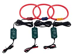 Extech PQ34-30 Flexible Current Probes 3 Pack of 3000A