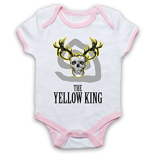 True Detective The Yellow King Bebe Barboteuse Body, Blanc & Rose Clair, 6-12 Mois