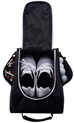 Athletico Golf Shoe Bag - Zippered Shoe Carrier Bags with Ventilation