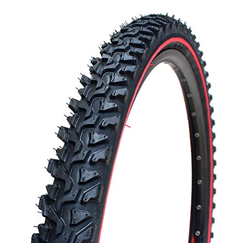 HBOY Mountain Bike Tires Cross Country Cycling Parts Bike Tyre 26 Inches1.95 for MTB Bicycle Performance Replacement Tire -Black