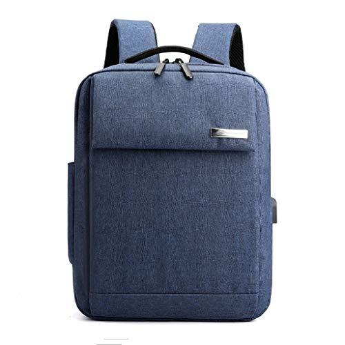 Summerone Laptop-Rucksack Travel Business-Notebooks Rucksäcke mit USB-Ladeanschluss, Wasserdicht Computer Bag Passend for 15,6-Zoll-Laptop (Color : Blue)