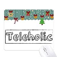 teleholicスタイリッシュワード ゲーム用スライドゴムのマウスパッドクリスマス