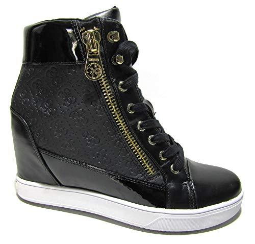 Guess FLFOR1 FAL12 - Zapatillas deportivas para mujer con cuña completa negra Size: 39 EU