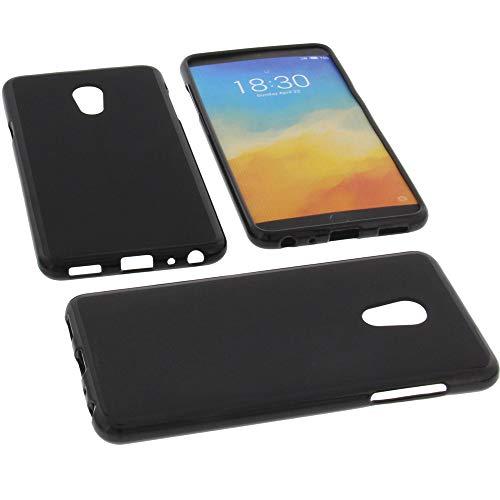 foto-kontor Tasche für Meizu M15 Hülle Gummi TPU Schutz Handytasche schwarz