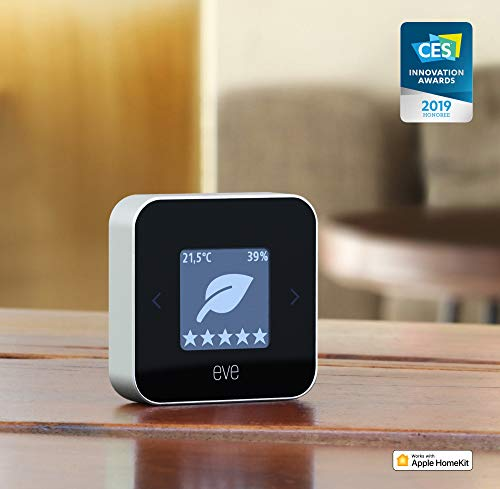 Eve Room – Indoor Air Quality Monitor for tracking VOC, temperature & humidity; e-ink-display, no bridge necessary…