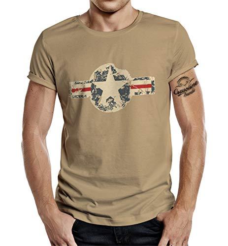 T-Shirt für den US-Army Fan: Used Look Desert-Sand