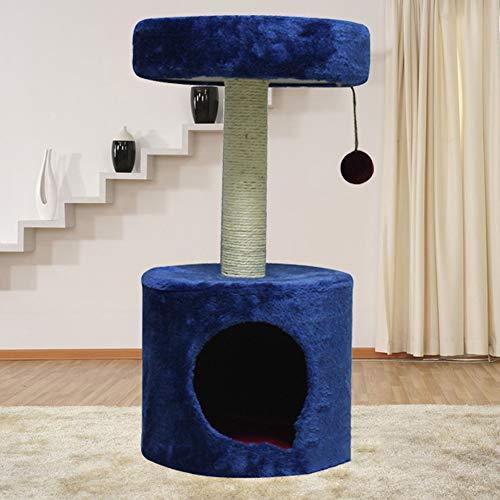 Krabpaal voor katten, 65cm hoge kattenboom torens activiteitencentrum kitten meubels speelhuisje met sisal beklede krabpaal
