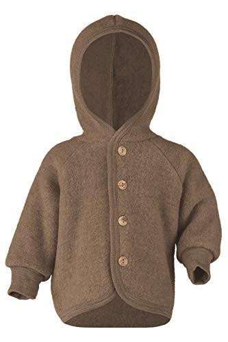 Engel Baby Jacke Fleece, Schurwolle, Natur, Gr. 50/56-86/92, 4 Farben (50/56, Walnuss Melange)