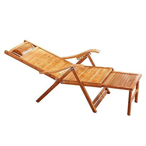 FEIFEI Fauteuils inclinables Bambou chaise berçante adulte chaise longue chaise de couchage chaise paresseuse maison loisirs chaise berçante balcon Pliant