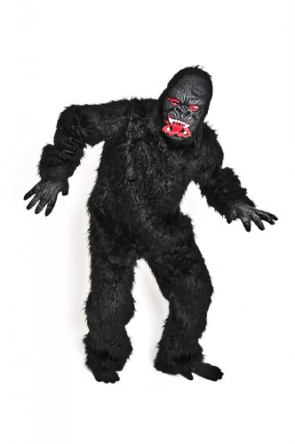 Foxxeo 10858   Gorillakostüm Kostüm Gorilla Tierkostüm Affenkostüm King Kong schwarz Gr. XXL, XL, M/L, S, Größe:S