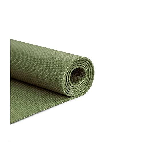 BAHE Elementary Mat Lite - Esterilla de yoga (elastómero termoplástico, 173 x 61 cm, 380 g, 3 mm), color verde oliva