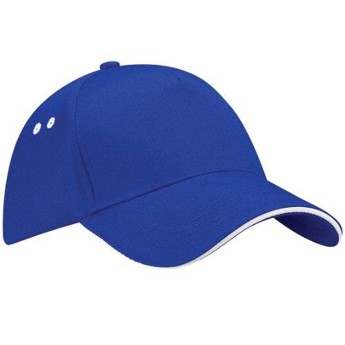 Beechfield Beechfield Ultimate Unisex Kappe, 100% Baumwolle, UTRW222_5, Blau, UTRW222_5 onesize