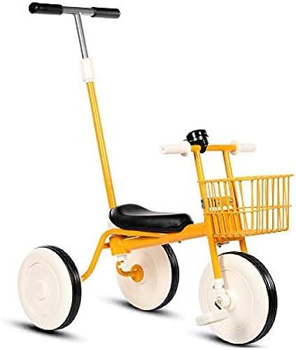 Kinder-Dreirad-fürrad 1-3 Jahre Alte Baby-Spaßierg er Baby-fürrad Leicht Kinderwagen,Gelb
