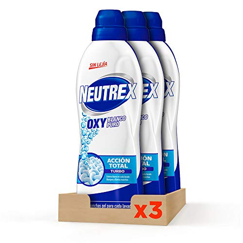 Neutrex Quitamanchas Gel Oxy Blanco Puro Botella 840 ml, Pack de 3, Total 2.520ml