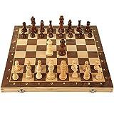 ZAZA Juego de ajedrez Juego De Ajedrez De Madera Magnética para Adultos para Niños Plegable Placa con Ranuras De Almacenamiento Tablero De Ajedrez Ajedrez (Color : L Chess Set)