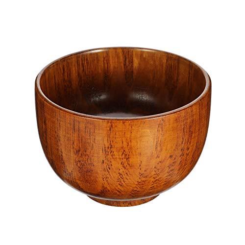 lovingmona Wooden Shaving Bowl Wood Barber Shave Soap Cream Cup Mug- 9.5 cm Deep x 6.5 cm Diameter