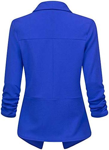 Royal blue blazer women _image2