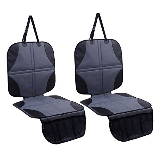 Car Seat Protector 2 Pack, Ohuhu Thickest Non-Slip Car Seat Protector for Child Car Seat, Waterproof...