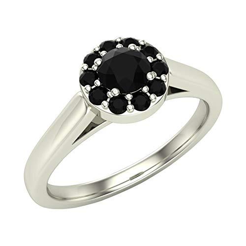 Glitz Design Mujer Niños Hombre Unisex oro 14 quilates (585) oro blanco 14 quilates (585) round-shape Black Diamante negro