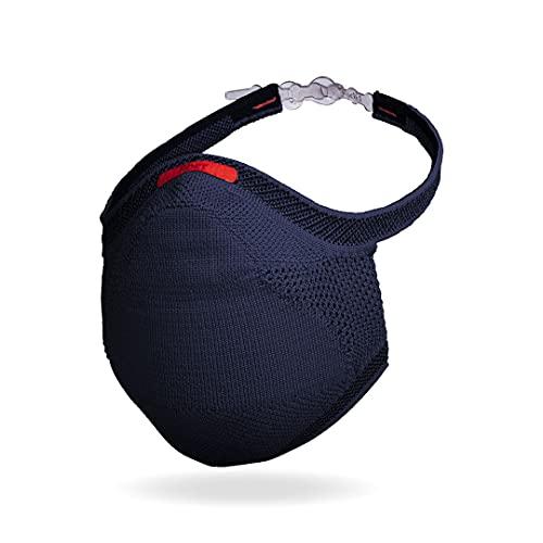 Máscara Fiber Knit Sport + Filtro de Proteção + Suporte (Azul Marinho, G)