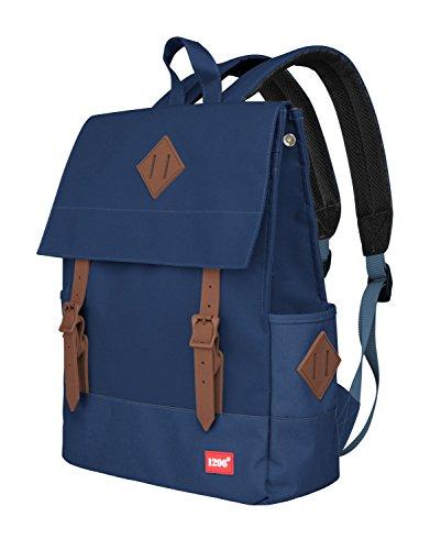 blnbag U1 - Leichter Tagesrucksack, Daypack für Damen und Herren Canvas Rucksack für Schule, Uni, Büro, multifunktionaler Cityrucksack, Backpack Unisex, Blau