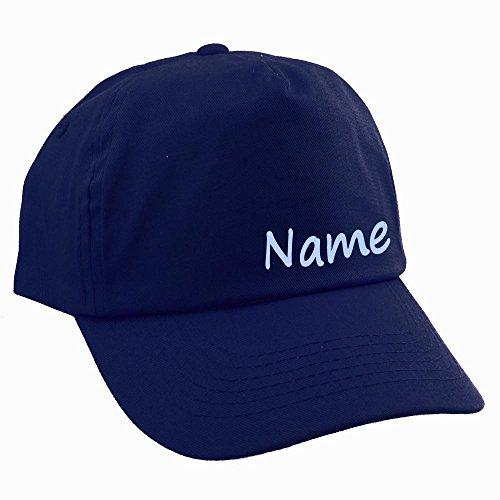 Elefantasie Junior Kinder Cap mit Namen oder Text personalisiert Marine