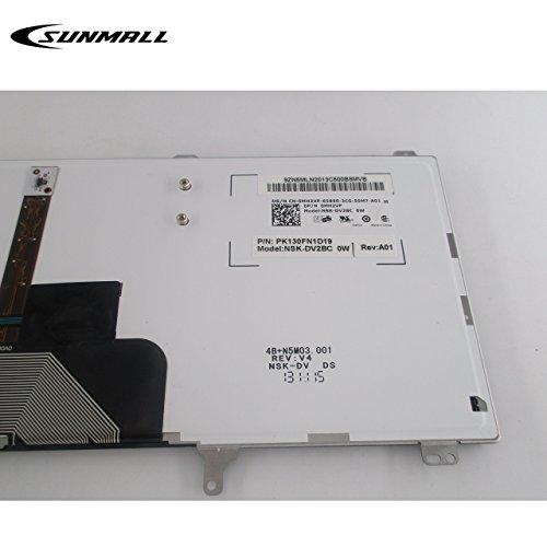 Sunmall Replacement Keyboard with Backlit/Big Enter Key Compatible with Dell Latitude E5420 E5430 E6220 E6320 E6330…