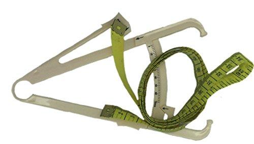 Körperfettzange Körperfettmessgerät para análisis de grasa corporal, mercería medida cinta métrica de 150 CM por Boolavard TM