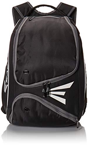 EASTON E210BP Bat & Equipment Backpack Bag | Baseball Softball | 2020 | Black | 2 Bat Sleeves | Smart Gear Storage Shelf | Vented Shoe Pocket | Valuables Pocket | Fence Hook
