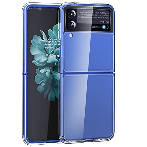 EUCG Funda Carcasa Samsung Galaxy Z Flip 3 5G (2021) Ajuste Incluye Bandas Adhesivas Slim Delgada Transparente Cristal Trasero Acrilico Antigolpes Protección Específica para Cámara